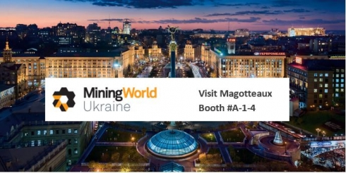 Mining World Ukraine Magotteaux booth A-1-4